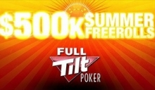 $500k Summer Freerolls von Full Tilt Poker